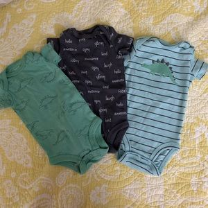 NWOT baby boys onesies size 3 months